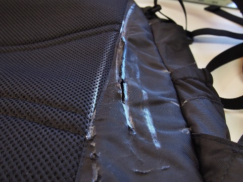 Backpack panel replacement